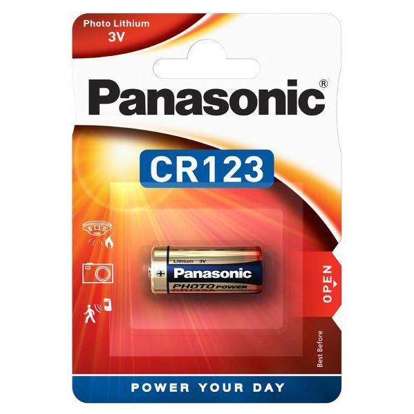 PANASONIC Lithium, Batéria, CR123, 3V, 1ks