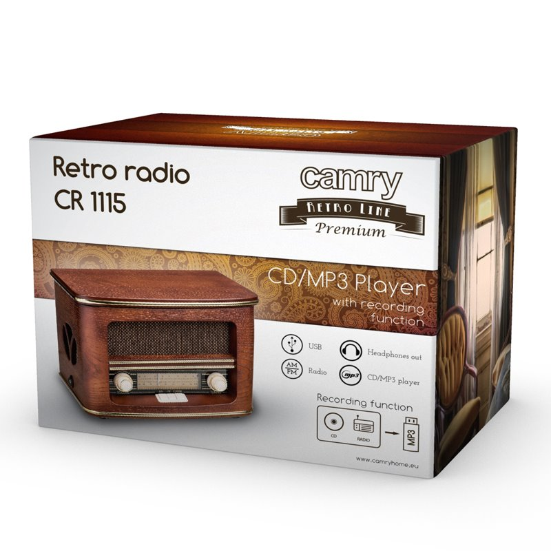 CAMRY CR 1115 FM Rádio/CD/Mp3 v RETRO štýle