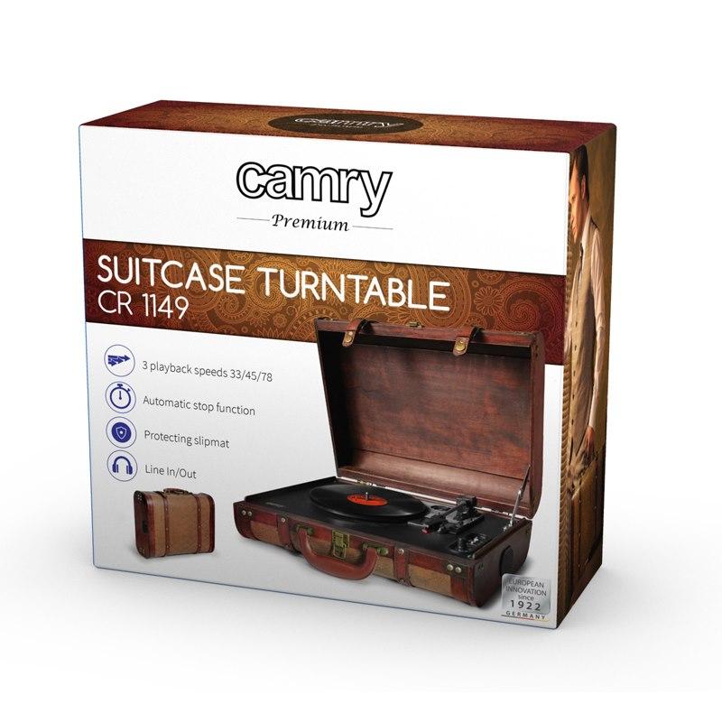 CAMRY CR 1149 Gramofón v RETRO kufríku