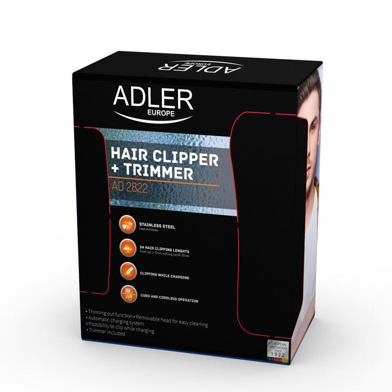 ADLER AD 2822 Zastrihávač vlasov a brady + nosa