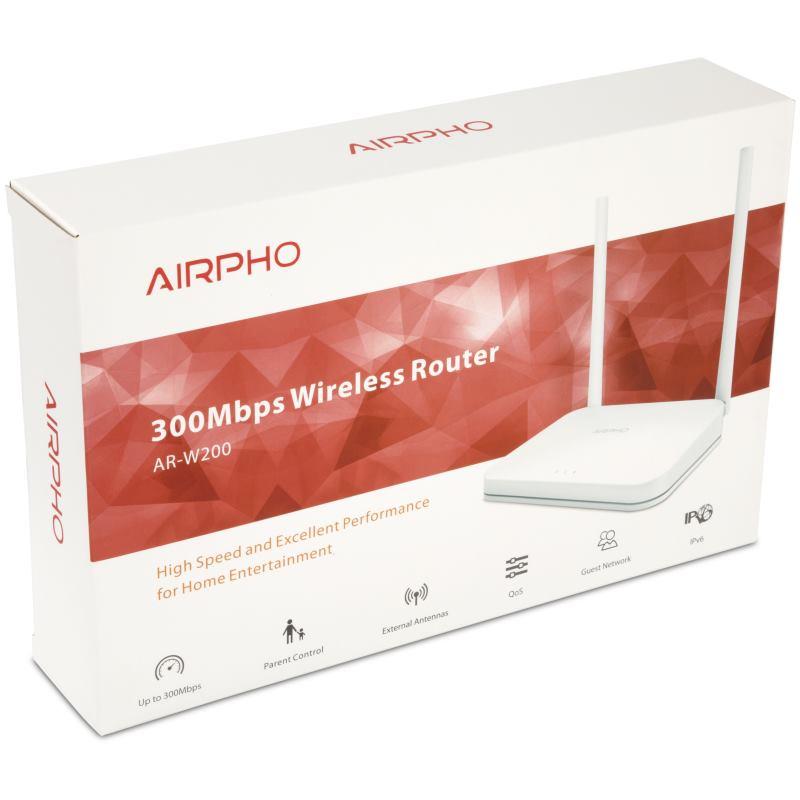AIRPHO Wifi N 300Mbps AP/Router, 4xLAN, 1xWAN
