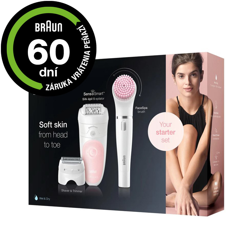 BRAUN Silk-épil Beauty Set 5 5-895 Flamingo