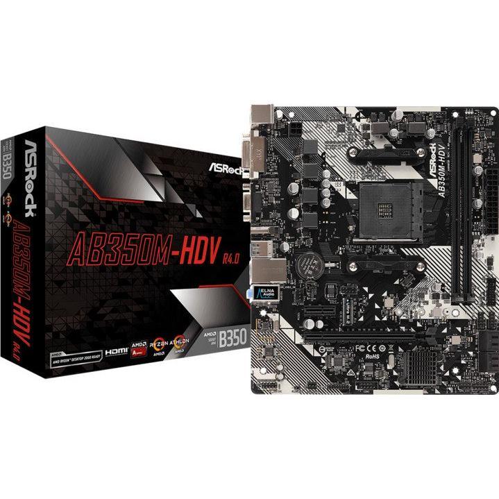 ASROCK Základná doska AB350M-HDV R4.0