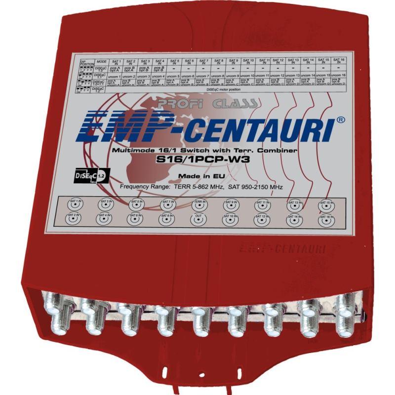 EMP-CENTAURI Profiline DiSEqC prepínač S16/1PCP-W3