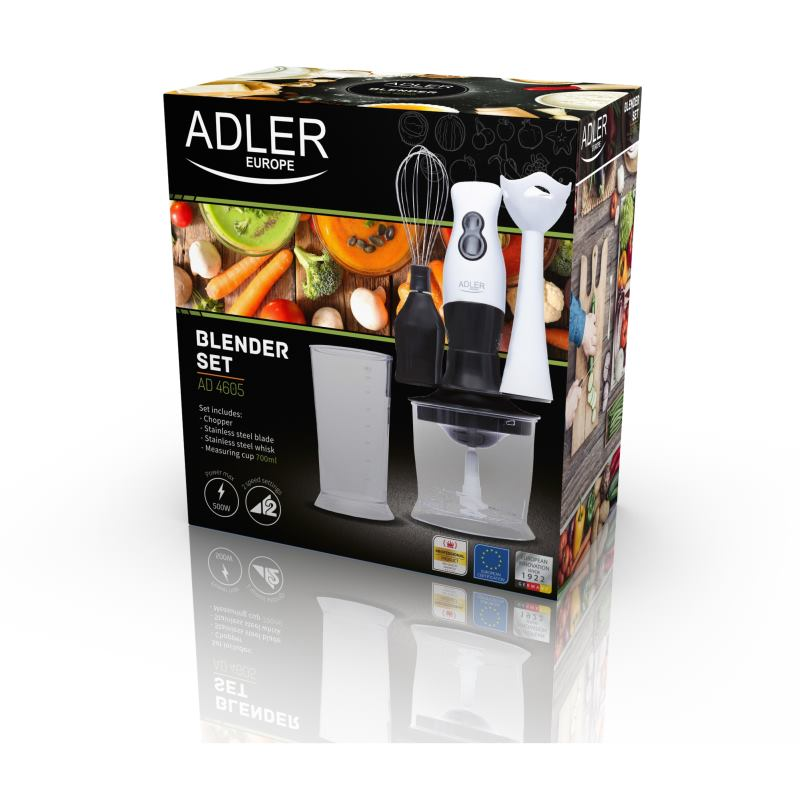 ADLER AD 4605, Tyčový mixér + príslušenstvo