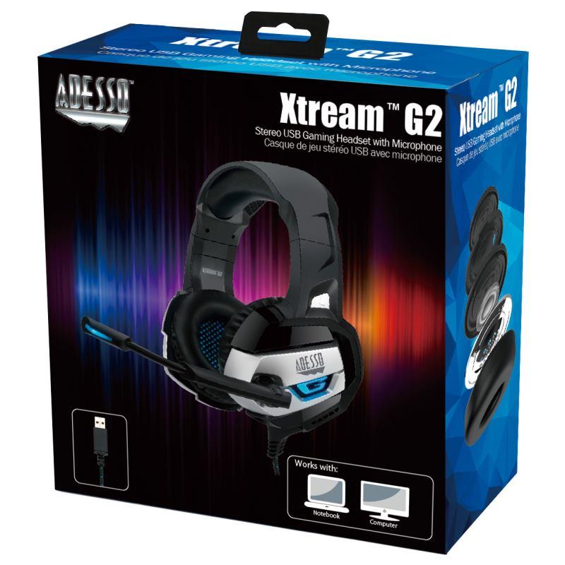 ADESSO Xtream G2, Herné slúchadlá USB