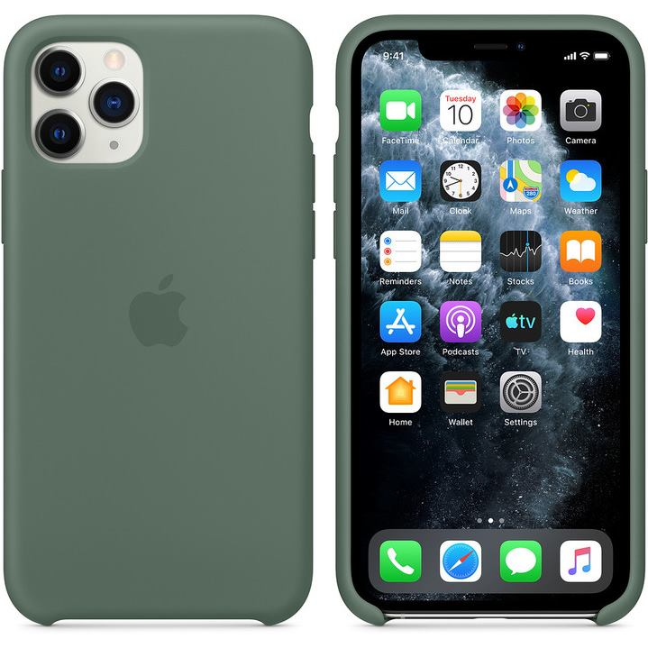 APPLE iPhone 11 Pro Silicone Case - Pine Green