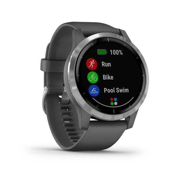 GARMIN Smart hodinky VÍVOACTIVE 4 Gray/Silver
