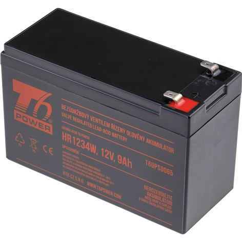 T6 POWER Akumulátor pre UPS, HR1234W, 12V, 9Ah