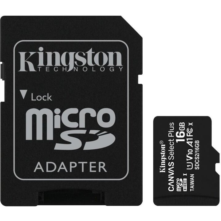 KINGSTON Micro SDHC CANVAS 16GB UHS-I + adaptér