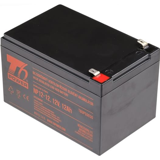 T6 POWER Akumulátor pre UPS, NP12-12, 12V, 12Ah