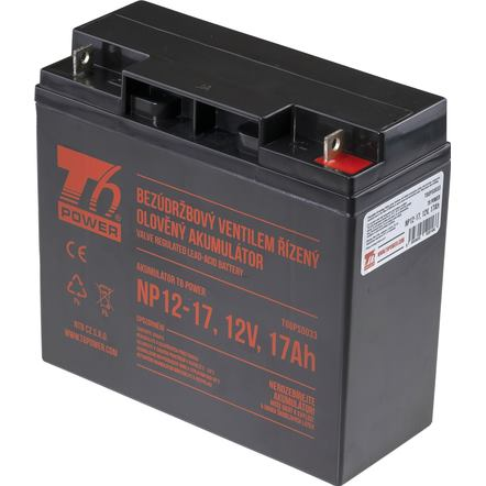 T6 POWER Akumulátor pre UPS, NP12-17, 12V, 17Ah