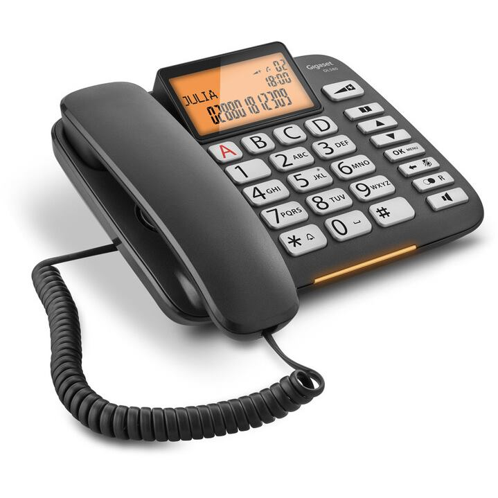 GIGASET DL580, Telefónny prístroj čierny