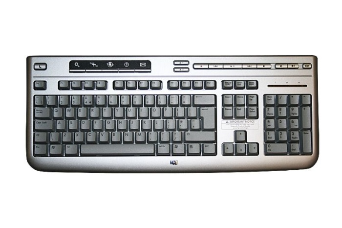 HP klavesnica 5069-8220 PS2 ENG silver
