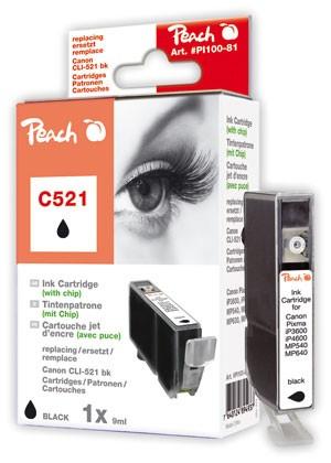 Cartridge Peach kom. CANON CLI-521XL Bk PI100-81