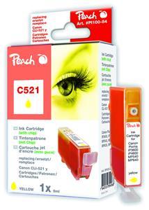 Cartridge Peach kom. CANON CLI-521XL Y PI100-84