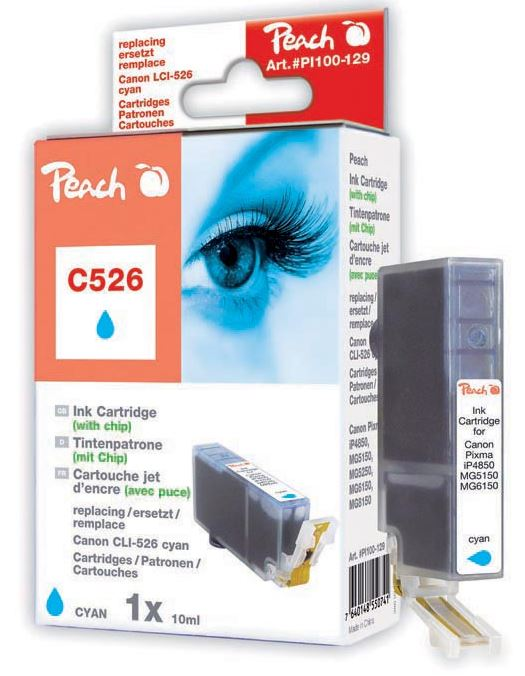 Cartridge Peach kom. CANON CLI-526XL C PI100-129