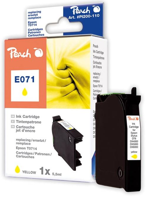 Cartridge Peach kom. Epson T0714/T0894 Y PI200-110