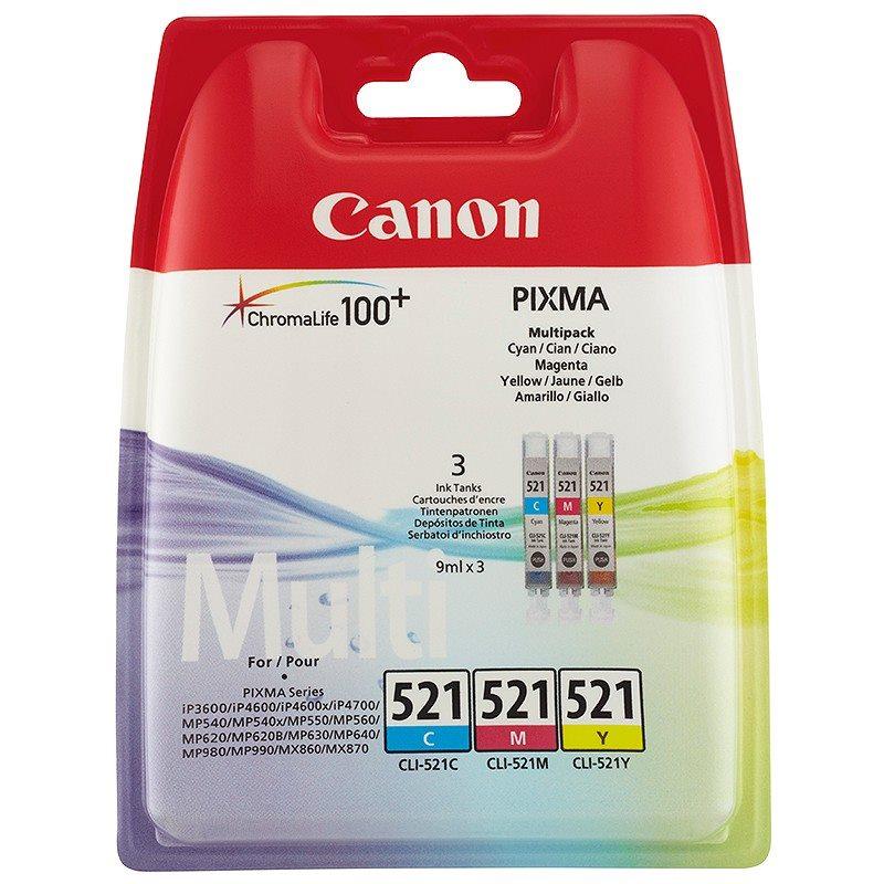 Cartridge CANON CLI-521 set C/M/Y