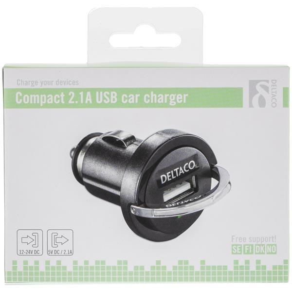 DELTACO USB nabíjačka USB-CAR20
