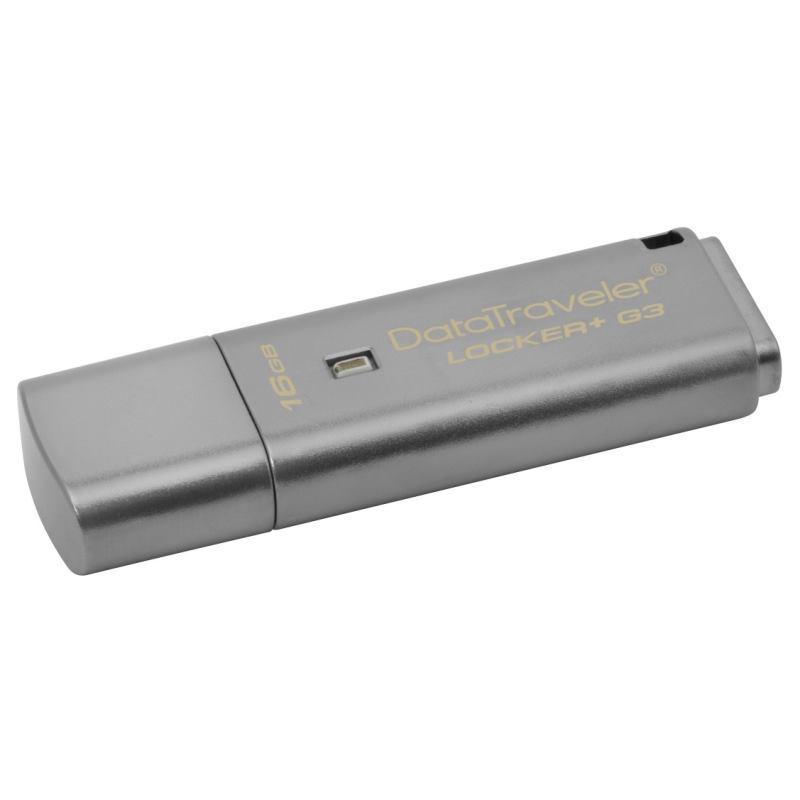KINGSTON DataTraveler LOCKER+ G3 16GB USB 3.0 DTLPG3 16GB - AGEM ... af0f9fd0899