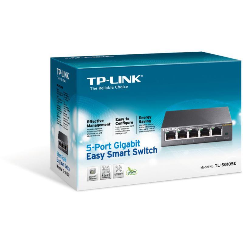 TP-Link Switch 5-Port/1000Mbps/MAN/Desk
