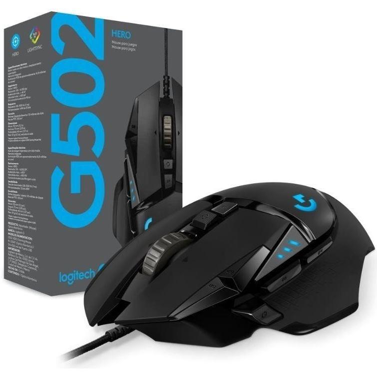 LOGITECH G502, Gaming Hero High Performance mouse
