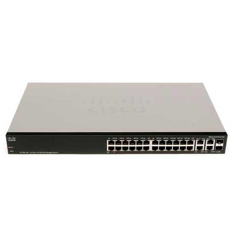 CISCO Switch SF300-24PP-K9 24-Port/100Mbps/MAN/Rac