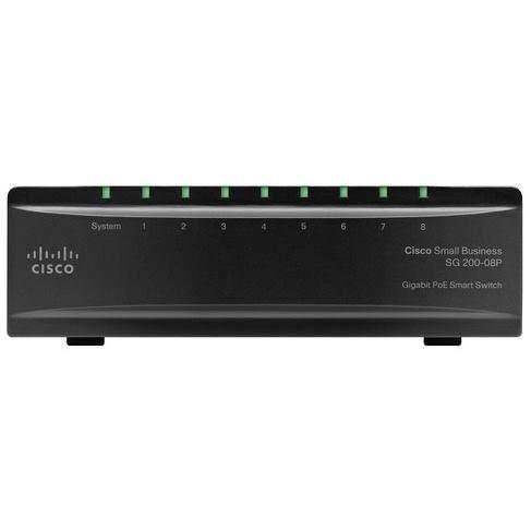 CISCO Switch 8-Port/1000Mbps/MAN/Desk/PoE