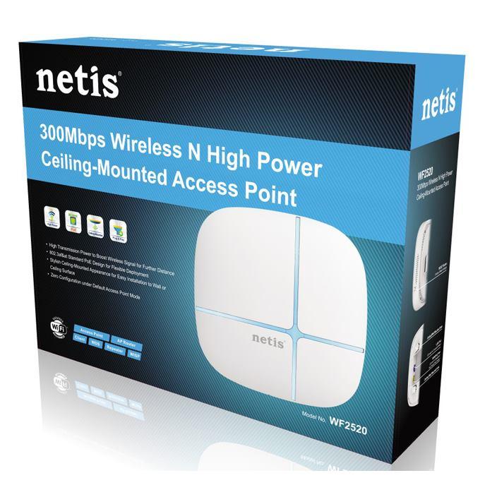 NETIS WF2520 Wireless N 300 Mbit/s aktínym POE AP