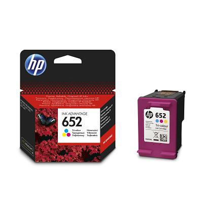 HP Cartridge HP 652 Cyan/Magenta/Yellow 5ml