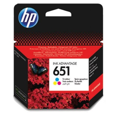 HP Cartridge HP 651 Cyan/Magenta/Yellow