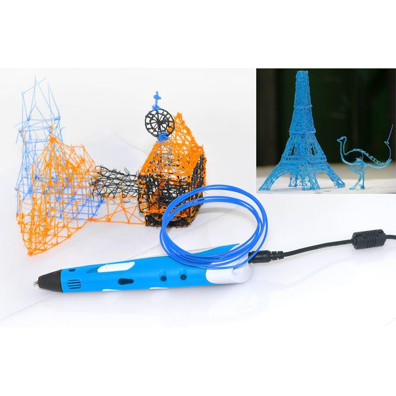 3D pero blue/white