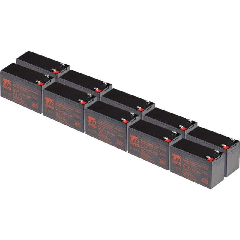 T6 POWER 10ks, Akumulátor, NP12-7.2, 12V, 7,2Ah
