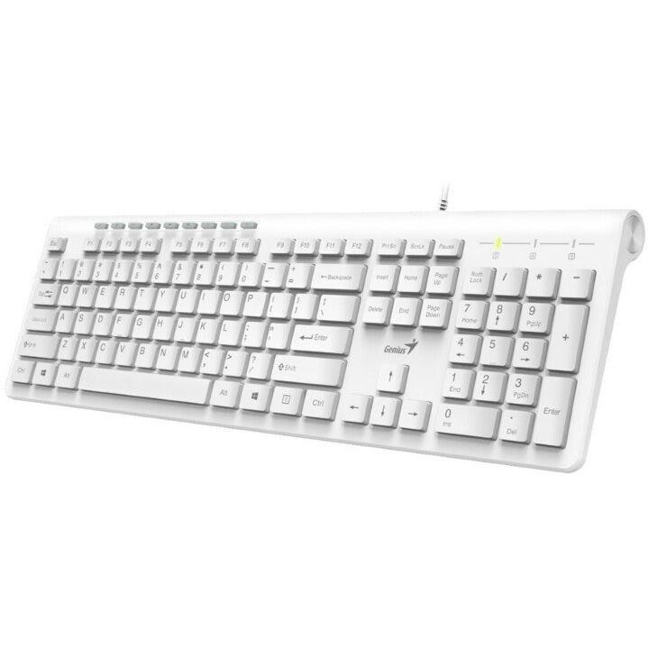 GENIUS Slimstar 230 USB, Klávesnica biela