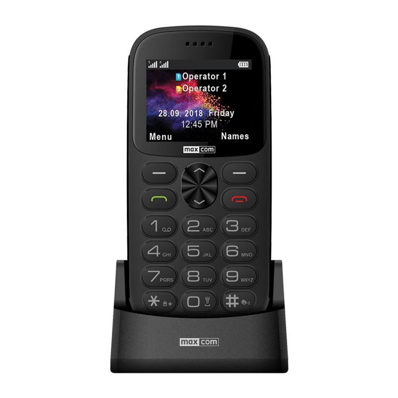 MAXCOM Telefón pre seniorov MM471SZ šedý