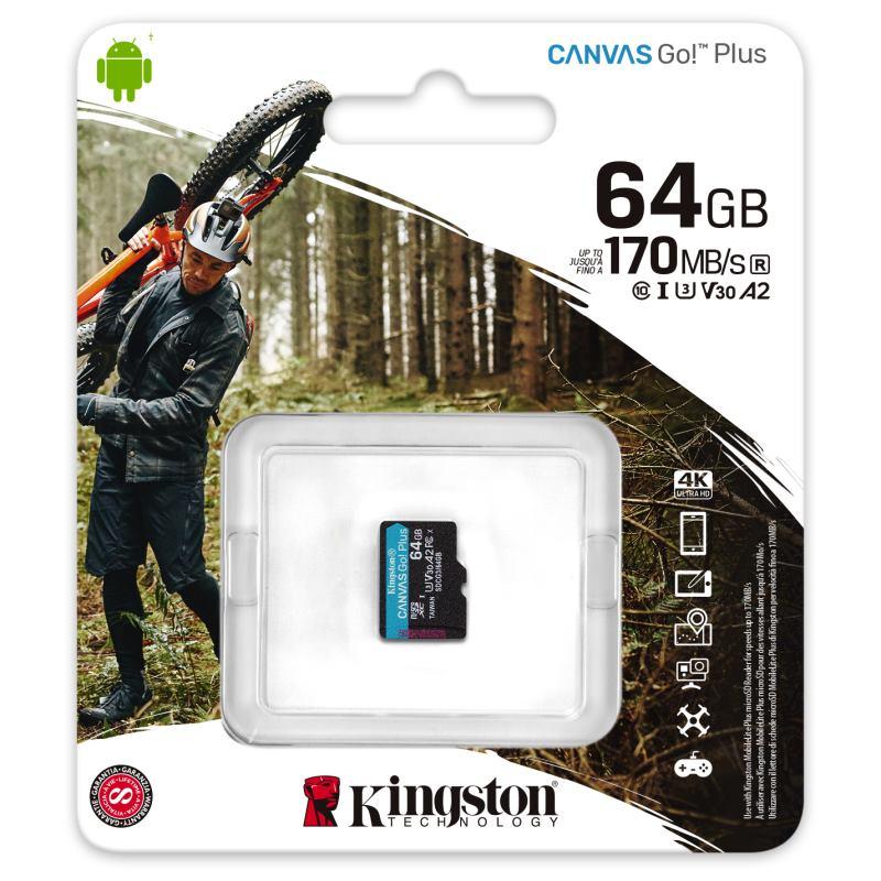 KINGSTON Micro SDXC CANVAS GO! Plus 64GB