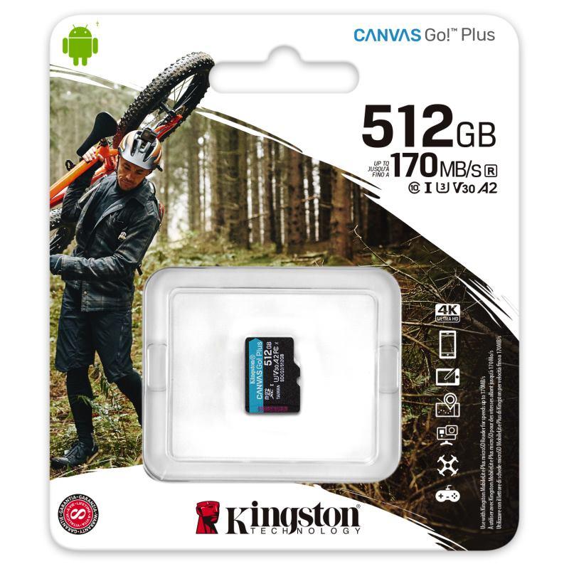 KINGSTON Micro SDXC CANVAS GO! Plus 512GB