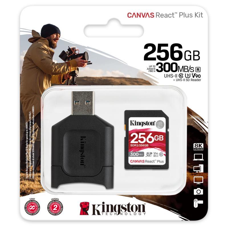 KINGSTON SDXC Canvas React Plus 256GB Kit