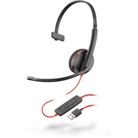 PLANTRONICS Slúchadlá s mikrofónom C3210 USB-A