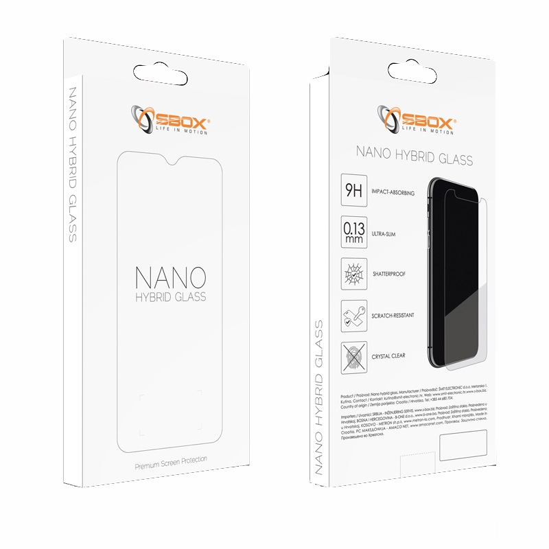 SBOX NANO Hybrid GLASS, APPLE iPhone X/Xs