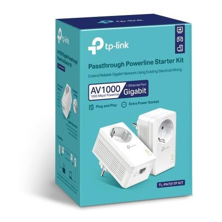 TP-Link TL-PA7017PKIT AV1000 1-Port Gigabit Passth