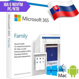 Microsoft 365 Family SK 1rok ML Save Now