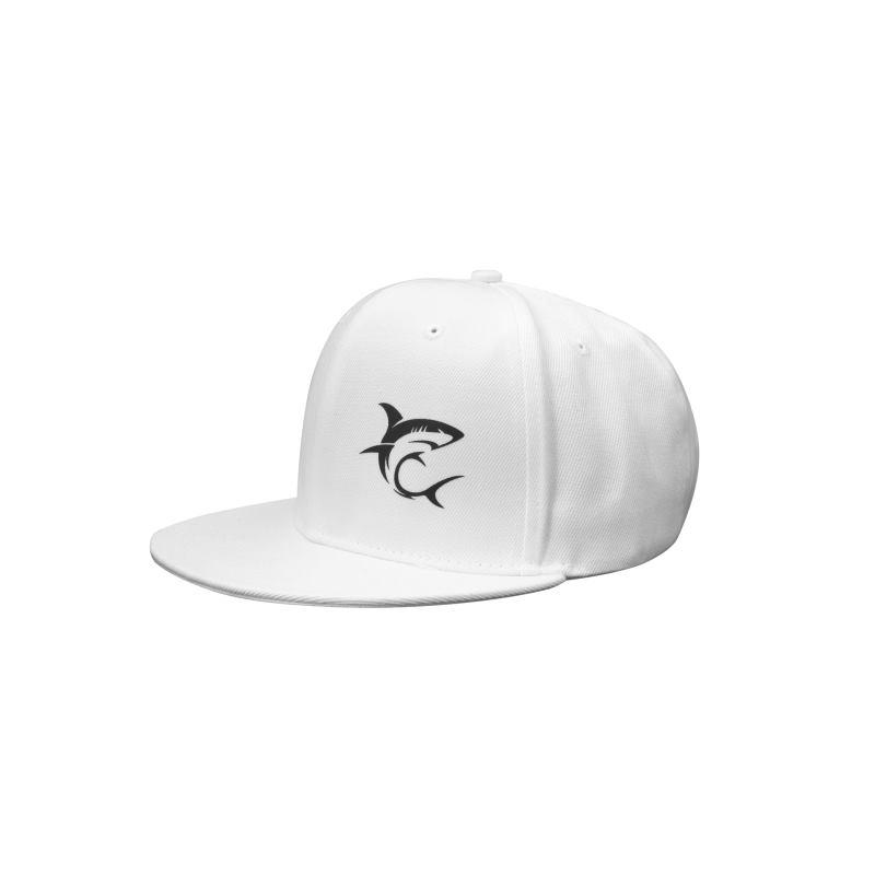 WHITE SHARK SNAPBACK CAP White - šiltovka