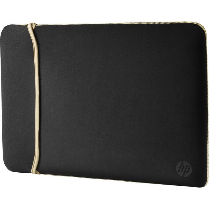 "HP 14.0"" Reversible Sleeve, Black / Gold"