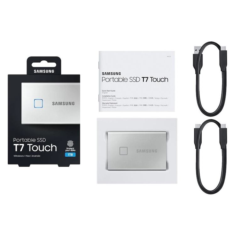 """SAMSUNG T7 Touch 2,5"""" SSD, 1TB, silver"""