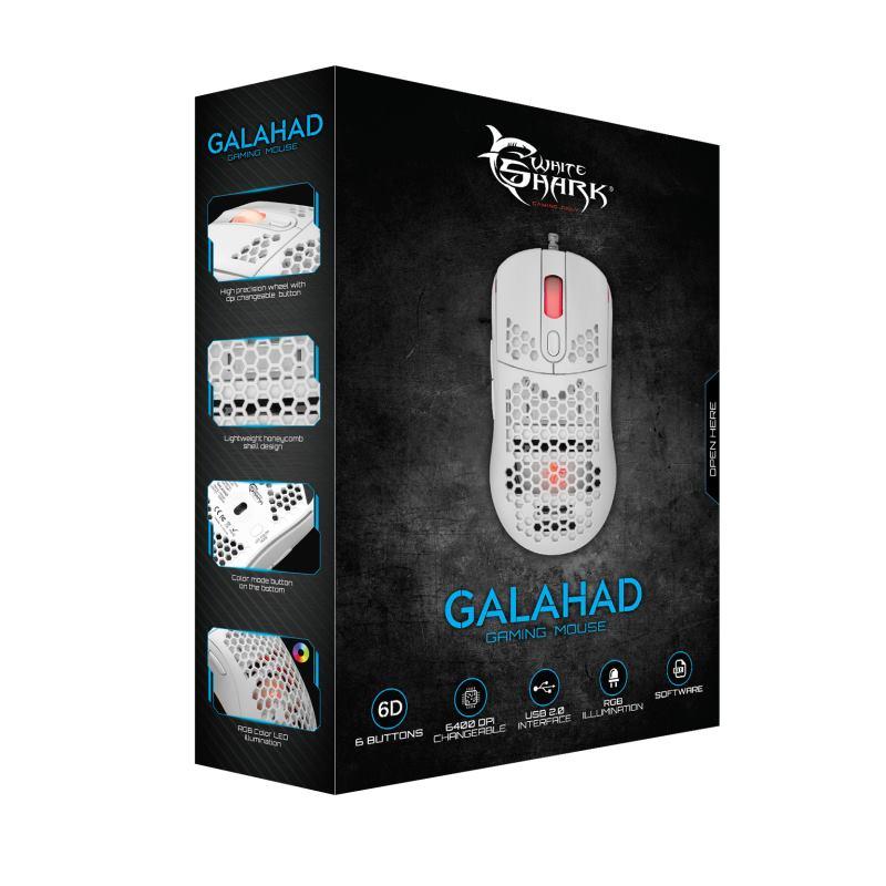 White Shark GM-5007 GALAHAD, Myš, biela