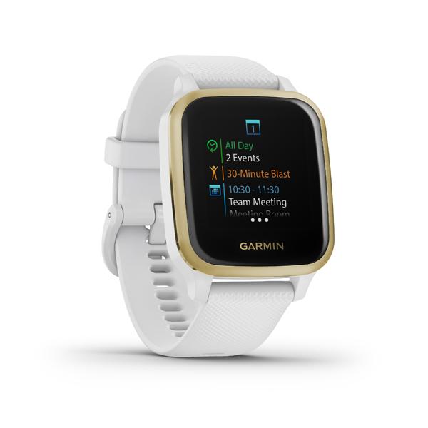 GARMIN VENU SQ, White/Light Gold, Smart hodinky