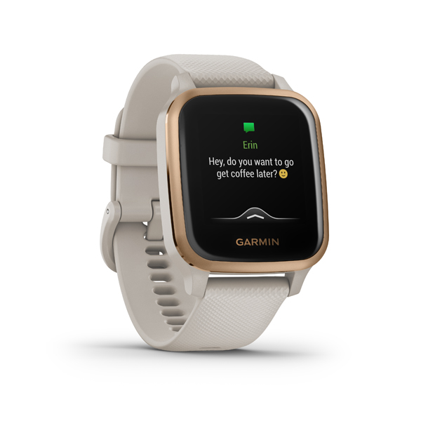 GARMIN VENU SQ Music, Light Sand/Ro, Smart hodinky