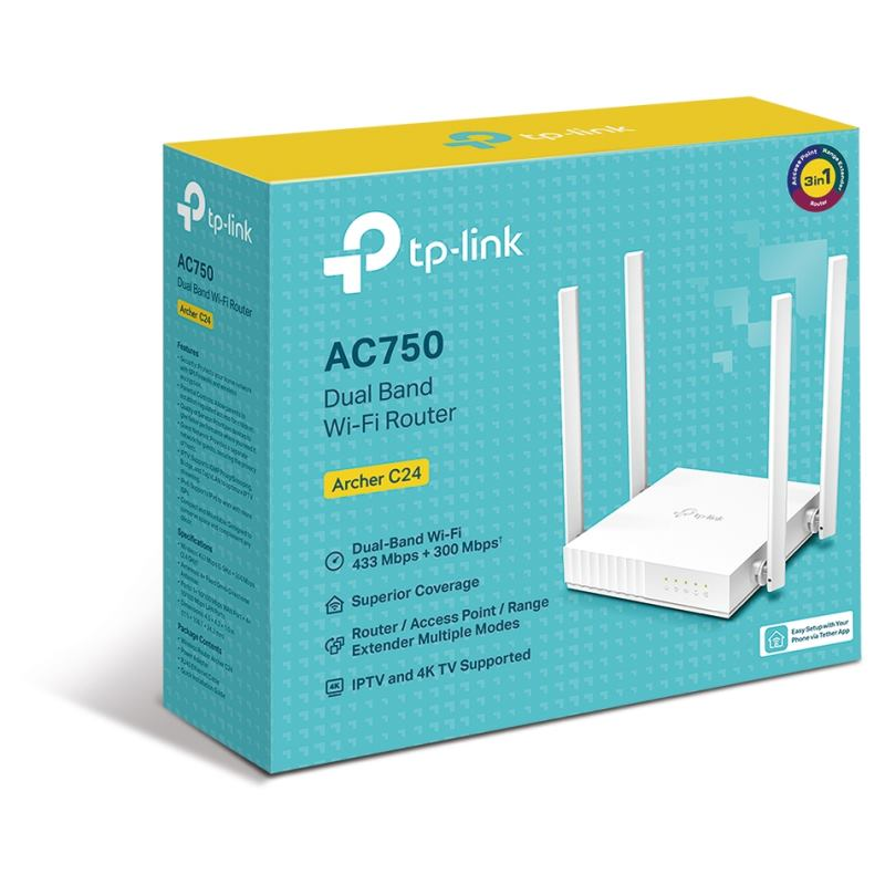 TP-Link C24 AC750 Dual-Band Wi-Fi Router